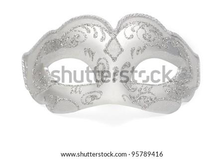 Carnival Venetian mask isolated - stock photo