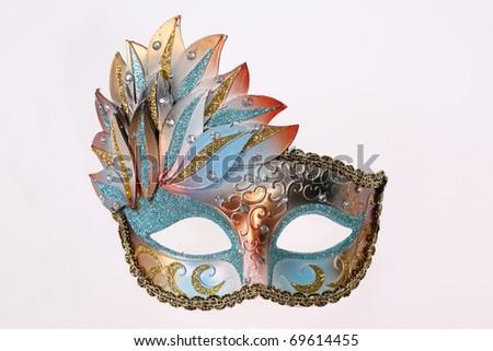 Carnival Venetian mask isolated on white background - stock photo