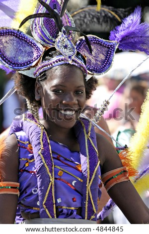 Carnival Woman Portrait - stock photo