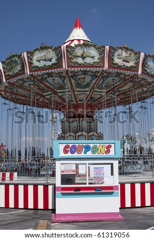 carousel at the county fair - stock photo