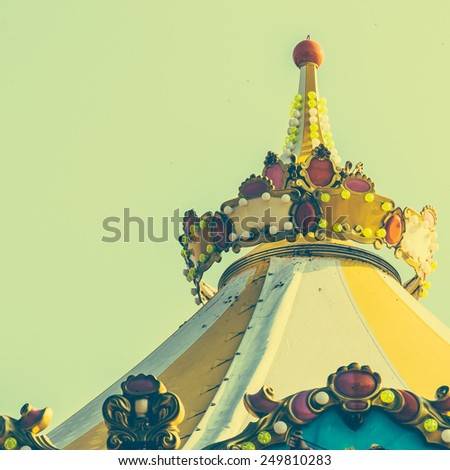 carousel carnival - vintage effect style pictures - stock photo