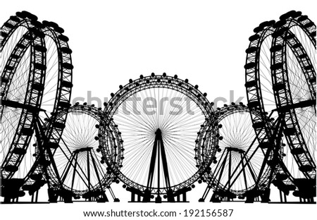 Carousel Field Silhouette 27 - stock photo