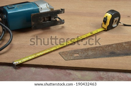 carpenter measuring tape - stock photo