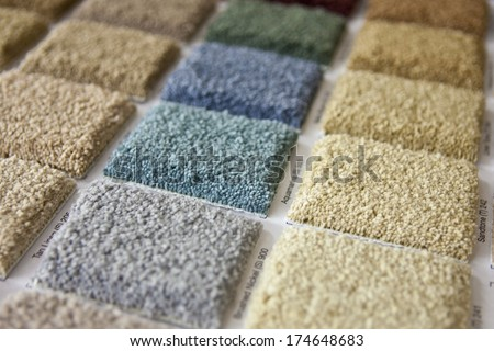 Carpet Squares - stock photo