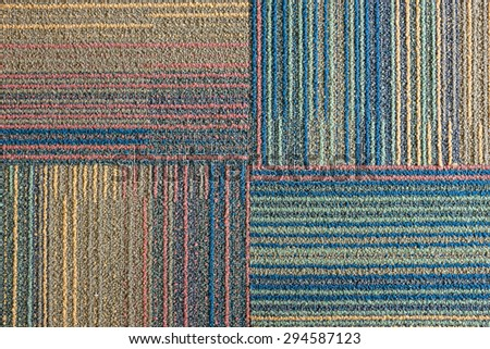 carpet texture in horizontal and vertical line pattern - stock photo
