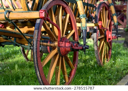 Carriages in wonderful colors - stock photo