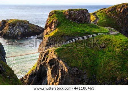 Carrick-A-Rede Rope in Northern Ireland - stock photo