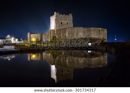 Carrickfergus Castle, County Antrim, Northern Ireland  - stock photo