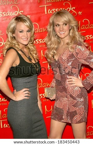 Carrie Underwood at in-store appearance for Carrie Underwood Wax Figure Unveiling, Madame Tussauds New York, New York, NY, October 22, 2008  - stock photo