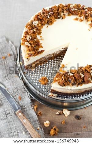 Carrot Cheesecake - stock photo