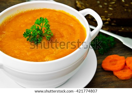 Carrot soup stock photos images pictures shutterstock for 101 soup cuisine