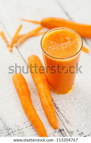 Carrot juice - stock photo