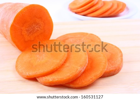 Carrot slices - stock photo