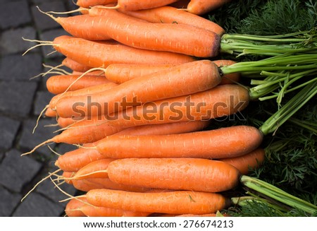 Carrots at the market - stock photo