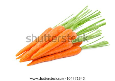 Carrots. Isolated on a white background - stock photo