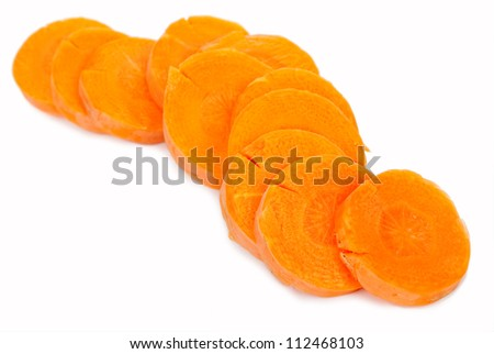 Carrots sliced rings - stock photo