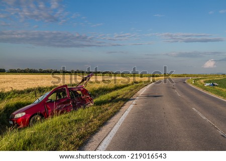 Cars accident. - stock photo