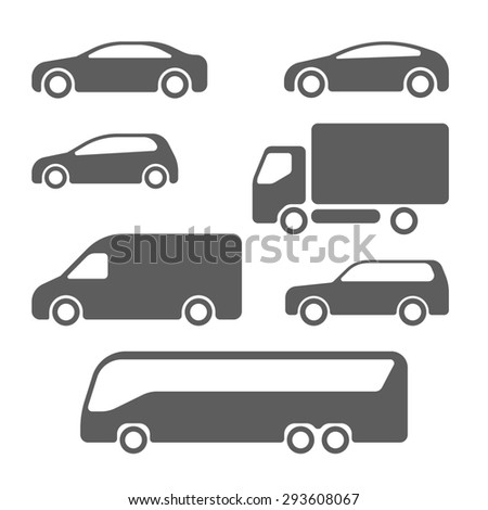 Cars and trucks in black - stock photo