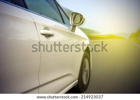 Cars with highway  - stock photo