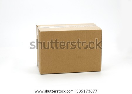 Carton - stock photo