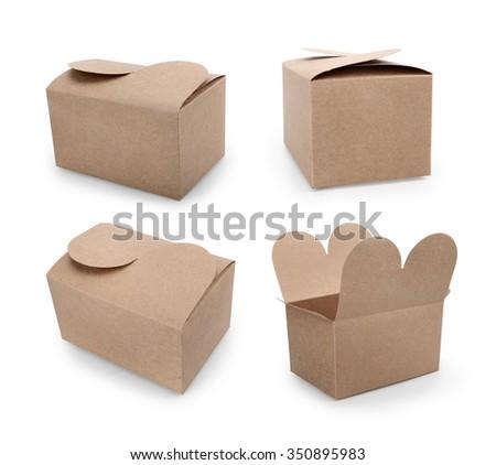 carton on a white background. - stock photo