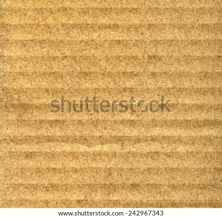 Carton or cardboard paper texture or background. CLoseup - stock photo