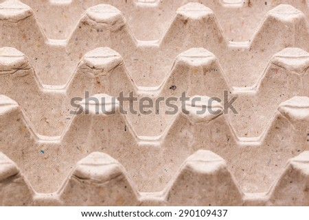 Carton Wrapper (Container) for Eggs - stock photo