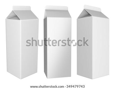 Cartons for liquids - stock photo