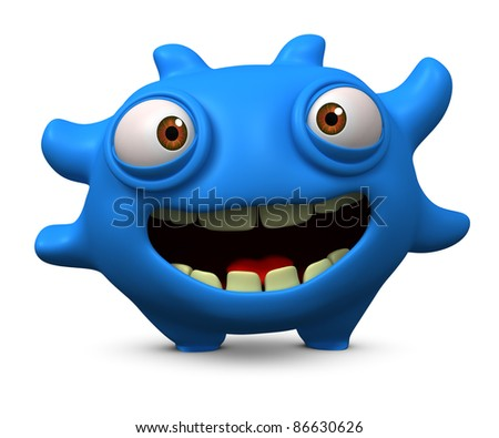 cartoon alien - stock photo