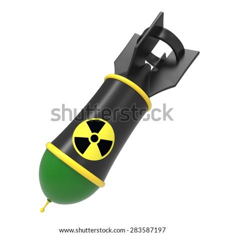 Cartoon atomic/nuclear bomb - stock photo