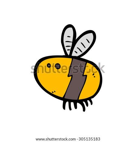 cartoon bee - stock photo