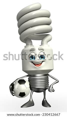 Cartoon Character of CFL with football - stock photo