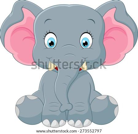 Cute baby elephant cartoon - photo#23