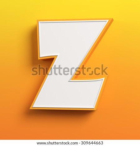 cartoon 3d font letter Z - stock photo