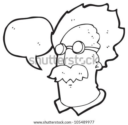 cartoon einstein - stock photo