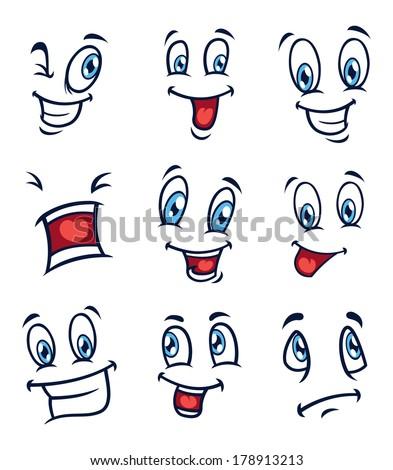 cartoon expression  - stock photo
