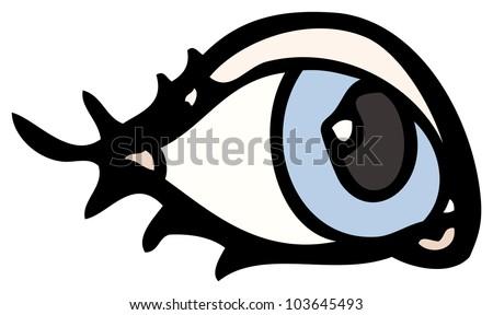 cartoon eye - stock photo