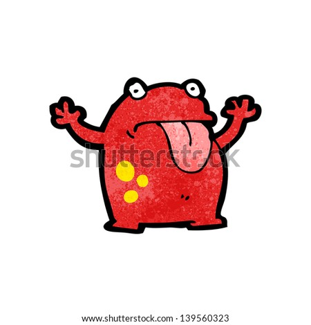 cartoon frog - stock photo