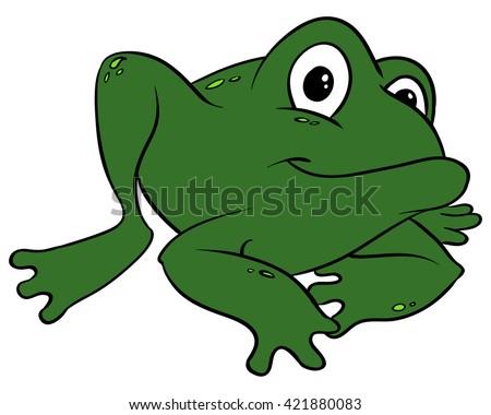 Cartoon Frog - stock photo
