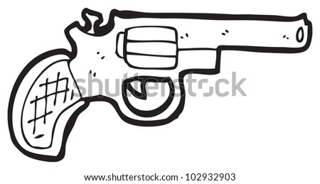 cartoon gun - stock photo