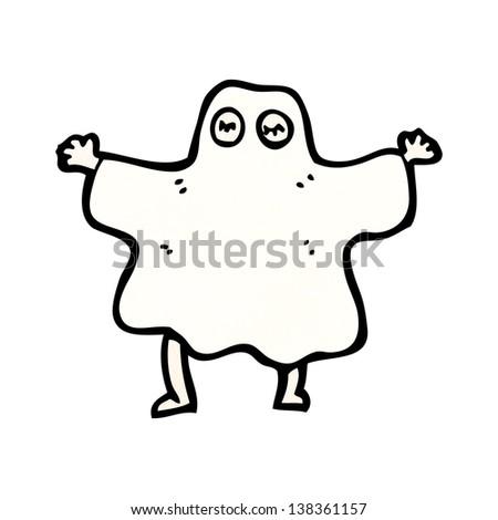 cartoon halloween ghost costume - stock photo