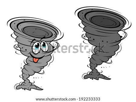 Cartoon hurricane in mascot style for design or weather concept. Vector version also available in gallery - stock photo