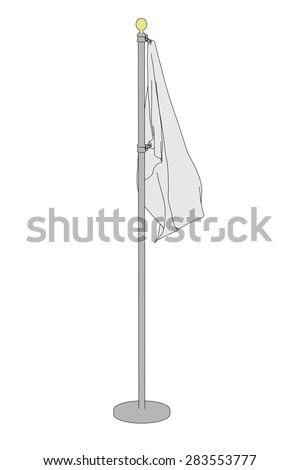 cartoon image of blank flag - stock photo