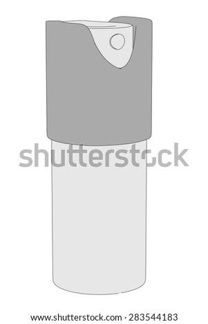 cartoon image of pepper spray - stock photo