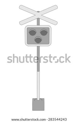 cartoon image of railway signs - stock photo