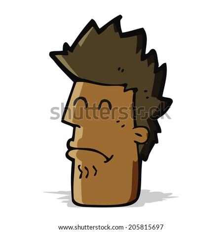 cartoon man feeling sick - stock photo