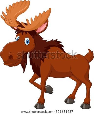 Moose face cartoon - photo#29