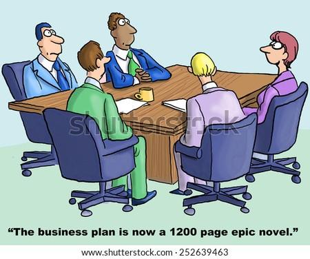 Business planning cartoons