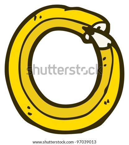 cartoon pencil shaped letter o - stock photo