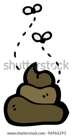 cartoon poo - stock photo
